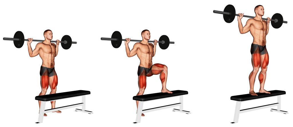 barbell step up